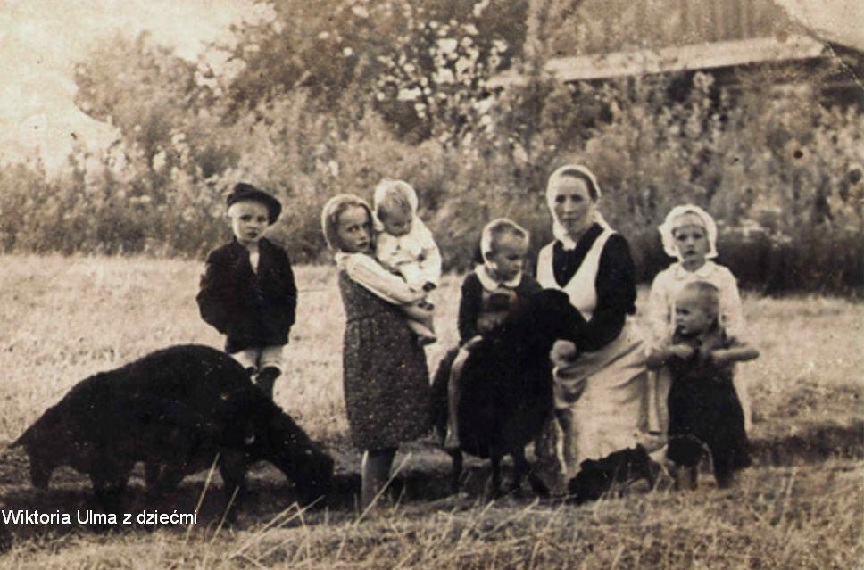 wiktoria ulma z dziećmi, zdjęcie historyczne